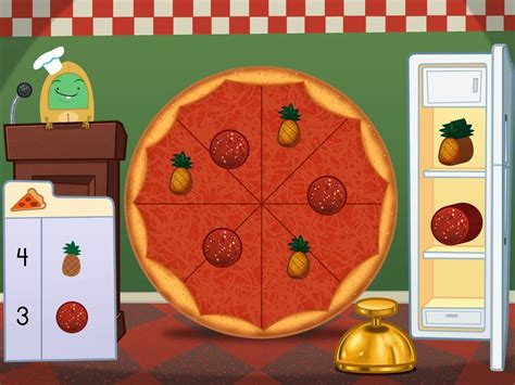 addition   pizza party game game educationcom