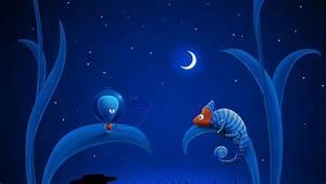 Story Of A Dark Blue Night Wallpaper