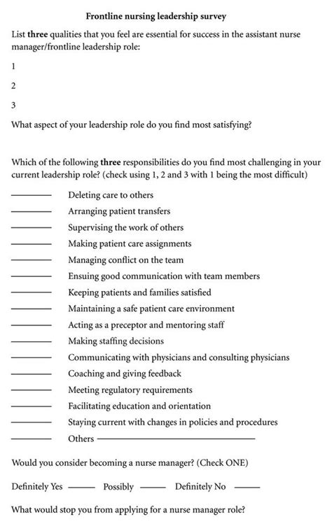 charge nurse perspectives  frontline leadership  acute