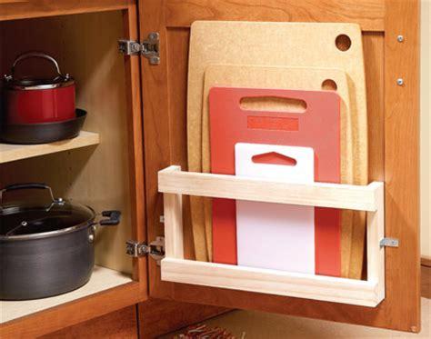creative ideas  organize cutting board storage