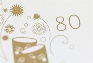 Einladung zum 80 Geburtstag Feinekarten