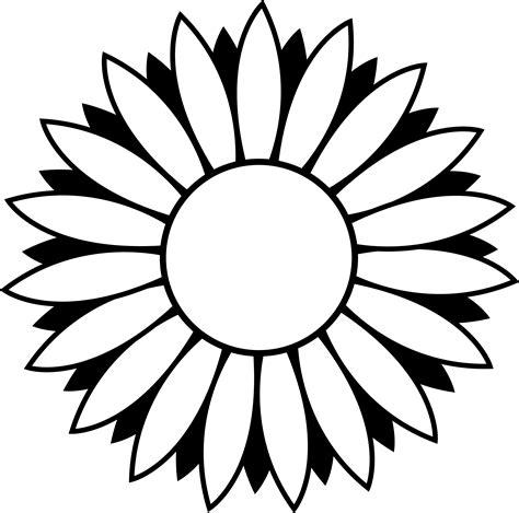 by wagstaffe inspiration clipart black white sunflower stencil flower clipart