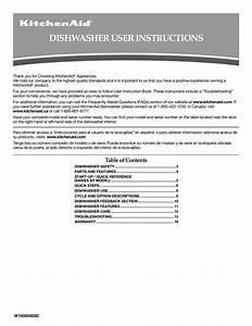Download Free Pdf For Kitchenaid Kuds30sxss Dishwasher Manual