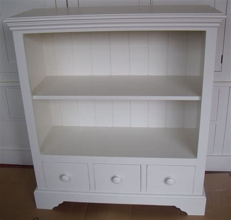 Painted Bookcases Uk by Oslo 3 Drawer 3ft Painted Bookcase With Adjustable