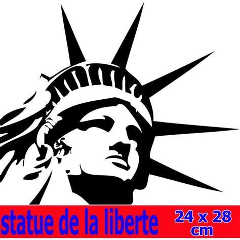 sticker carrelage cuisine sticker autocollant tête statue de la liberté usa achat