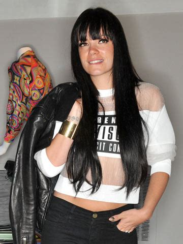 hot  hair lily allen shows  straight waist length