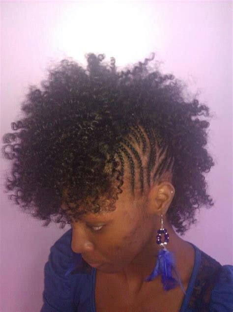 mohawk sew  natural hair styles elliptical pinterest