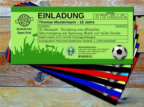 multivorlagede fussball einladungskarten im
