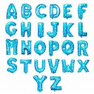 blue letter foil balloon partysaurusland With blue foil letter balloons