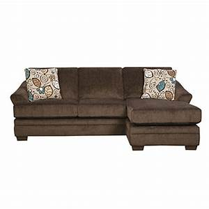 simmonsr sunflower brown sofa with reversible chaise big With simmons sectional sofa with chaise