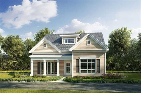 Narrow Cottage Plans by Adorable Narrow Lot Cottage House Plan 36099dk 1st