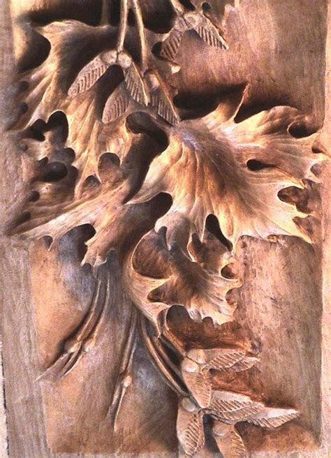 carved wood leaves  beautiful architecture