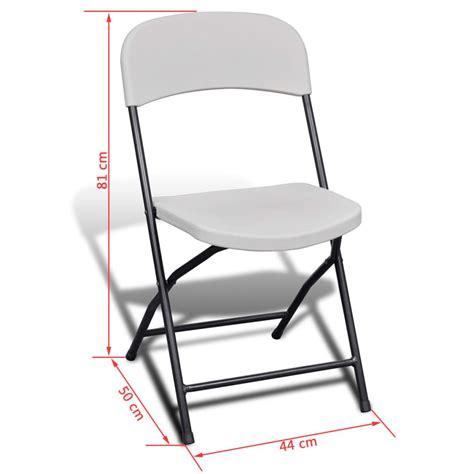 lot 4 chaises blanches acheter vidaxl lot de 4 chaises de jardin blanches
