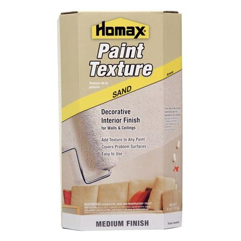 Homax Ceiling Texture Home Depot by Homax Sand Texture Paint Additive Wall Textures