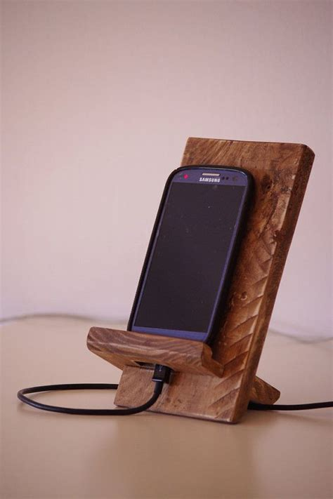 cell phone stands phone dock wooden phone stand rustic phone by