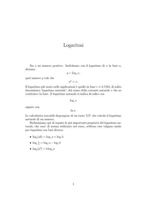 statistica dispense logaritmi dispense