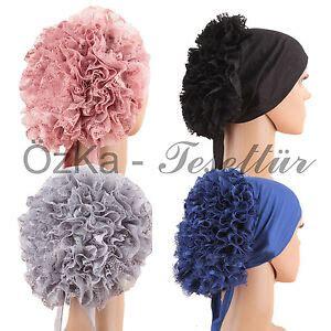 bone bonnet cap kopftuch bandana hijab tesettuer rueschen