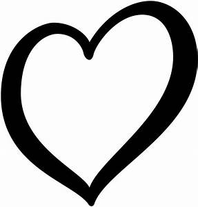 Heart Png Outline Black