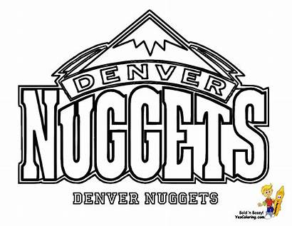Coloring Basketball Pages Nuggets Nba Team Lebron