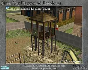 MsBarrows' Inner City Playground - Rusted Green Lookout Tower