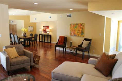 Brown Couch Living Room Wall Colors by Abstracting Sherman Oaks Madison Modern Home