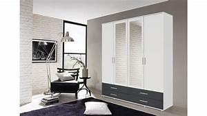 Kleiderschrank Weiß Grau : kleiderschrank rasant extra 4 trg wei grau metallic spiegel 168 cm ~ Buech-reservation.com Haus und Dekorationen
