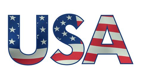 Letter Usa usa letters filled with waving american flag loopable