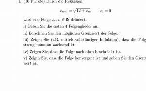 Grenzwert Berechnen Beispiele : wie kann ich den grenzwert berechnen rekursiv definierte folge xn 1 12 xn x1 0 mathelounge ~ Themetempest.com Abrechnung
