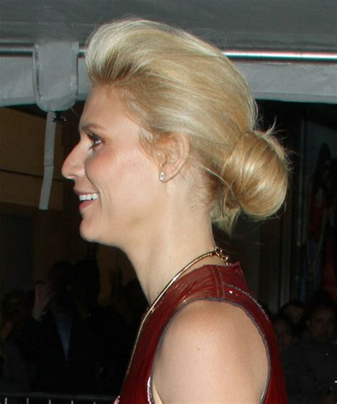 claire danes long straight golden blonde updo  light