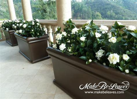 gardenia in a pot uv stabilized silk plants flowers and trees make be leaves