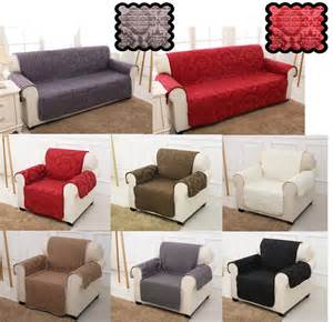 sofa covers quilted damask jacquard slip settee sofa cover pet protector throw ebay
