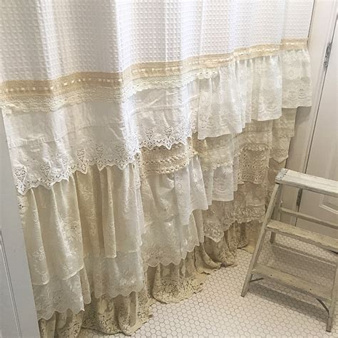 my bohemian bathroom with vintage lace hallstrom home