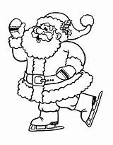 Coloring Skating Santa Ice Claus Pages Christmas Printable Figure Drawing Print Children Getdrawings Child Getcolorings Justcolor Value Gifts Colorings sketch template