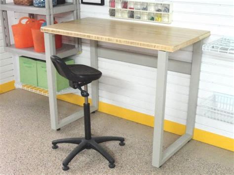 Workbench With Butcher Block Table Top