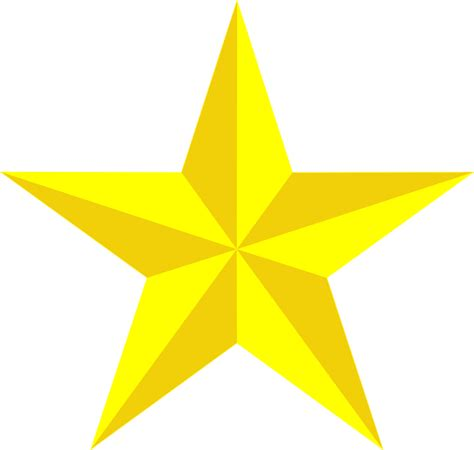 Free vector graphic: Star Yellow 3D Free Image on