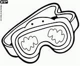 Diving Coloring Mask Scuba Pages Diver Snorkel Kleurplaat Printable sketch template