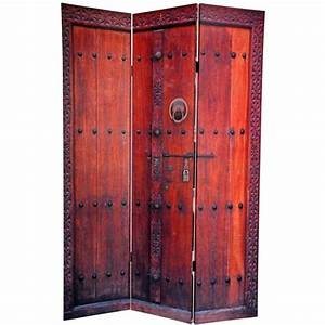 6, Ft, Tall, Double, Sided, Doors, Canvas, Room, Divider, Screen