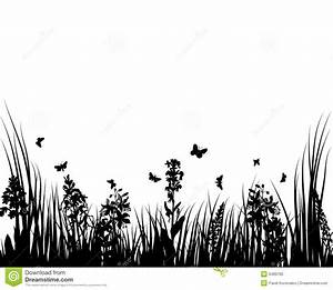 Grass and flowers stock vector. Image of drawings, drawing ...