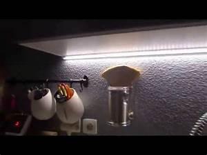 eclairage led cuisine par reglette plan de travail youtube With eclairage led plan de travail cuisine