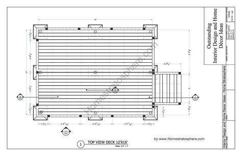 12x16 Floating Deck Plans deck plans blueprint plans home plans ideas picture