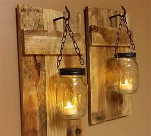 outdoor wall lighting ideas with diy hanging mason jar With kitchen cabinets lowes with mason jars as candle holders