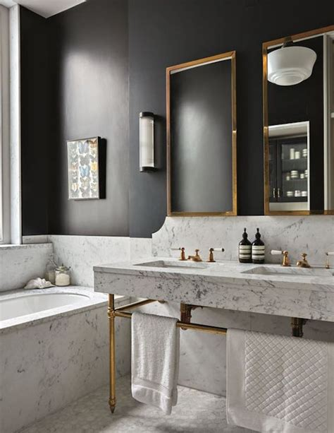 Brass Fixtures Bathroom by 18 Gorgeous Marble Bathrooms With Brass Gold Fixtures
