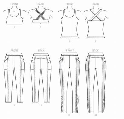 Leggings Bra Sewing Butterick Patterns Pattern Activewear