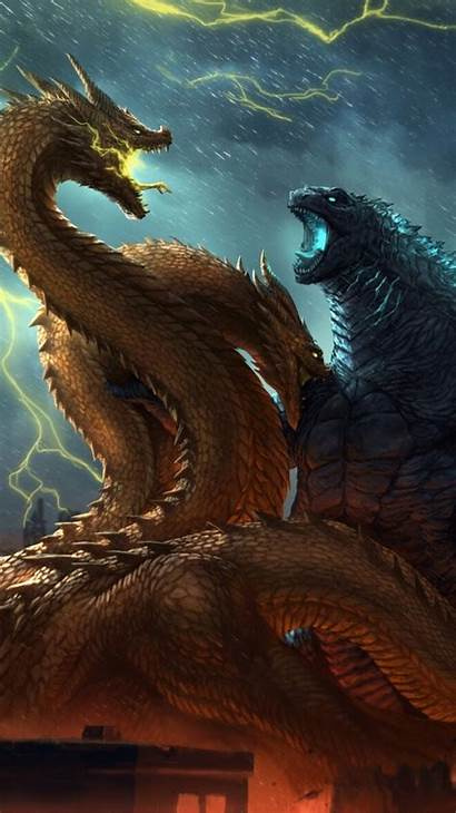 Godzilla King Monsters Ghidorah 4k Iphone Fanposter