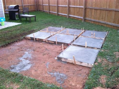 Backyard Concrete Slab by Diy Backyard Patio On A Budget This Is Awesome