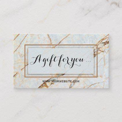 elegant marble beauty gift certificate template zazzle