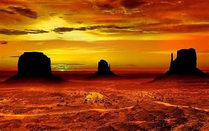 Desert Arizona Sunset Monument Valley Landscape Pc