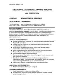 executive assistant resume description office assistant description sle recentresumes