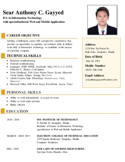 Career Objectives In Resume For Information Technology by Information Technology Manager Resume Exles Objective Sle Resume Objectives For