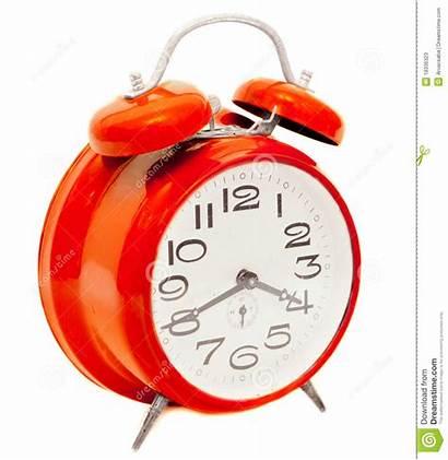 Alarm Clock Orange Metal